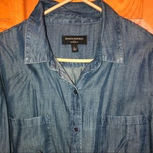 NWOT Banana Republic Button Denim Boyfriend-Fit